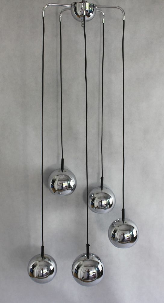 Kaskade Lampe Hangelampe 70er Jahre Designklassiker Chrom Designklassiker Lampe Hange Lampe