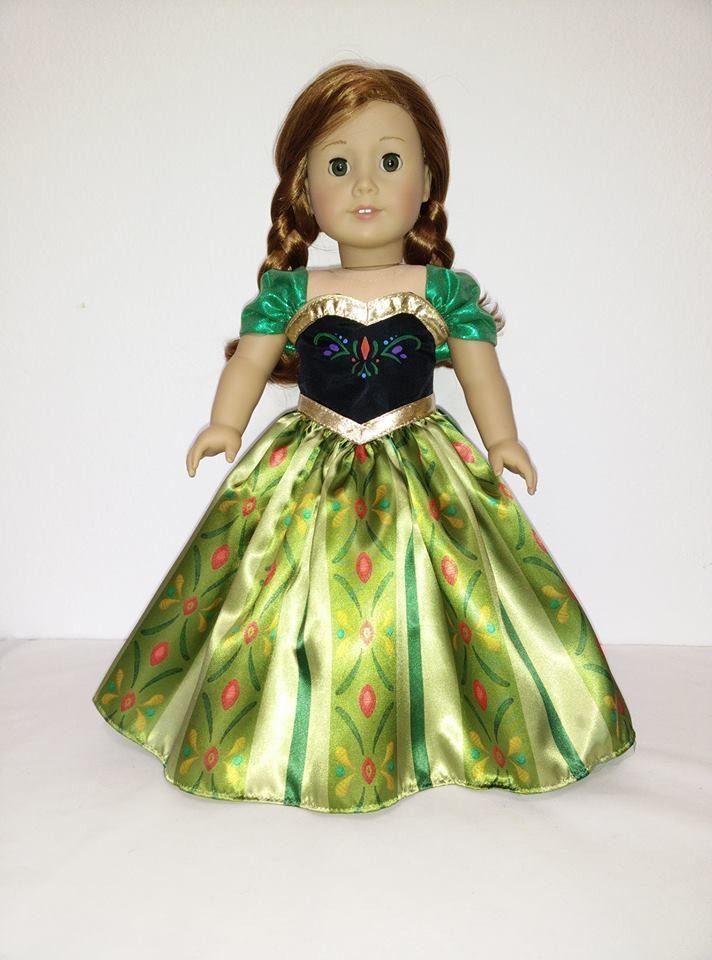 Disney Princess Princess Anna (Frozen) dress for American Girl Doll ...