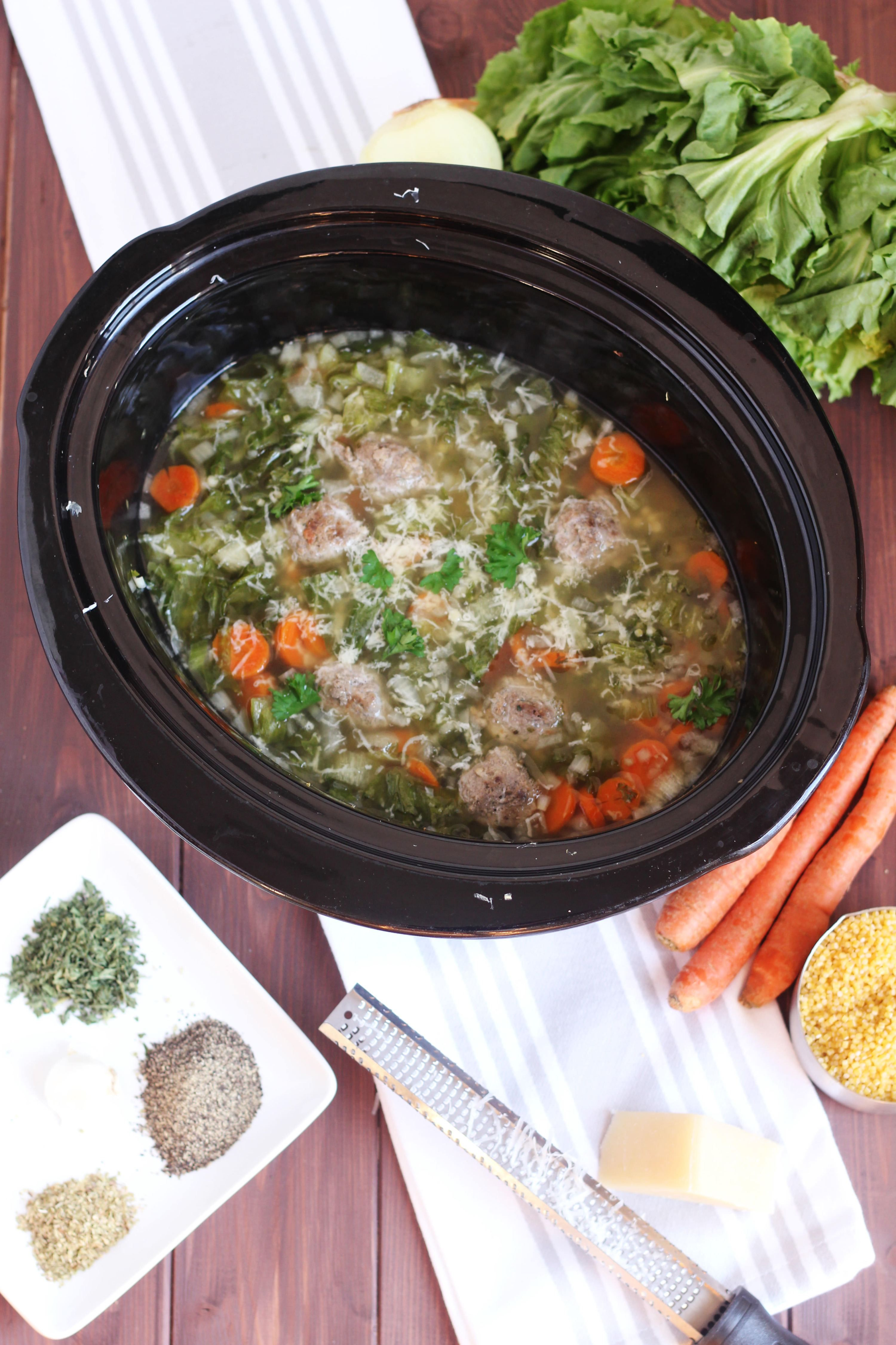 Slow Cooker Italian Wedding Soup - Authentic traditional soup. This ...