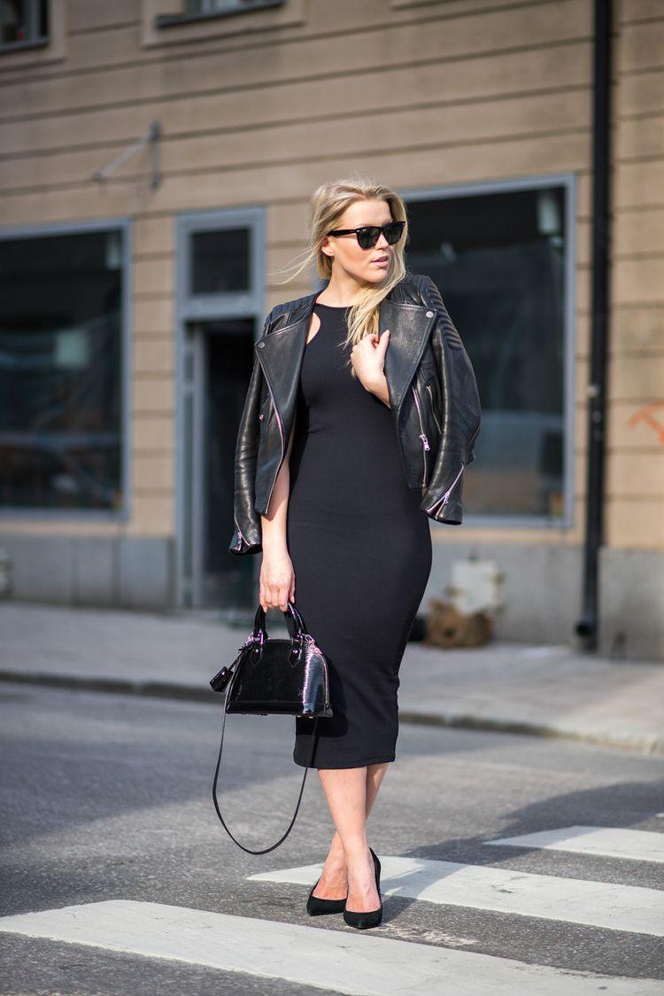 jacket, dress / H&M sunglasses / Ray Ban bag / Louis Vuitton shoes / Topshop