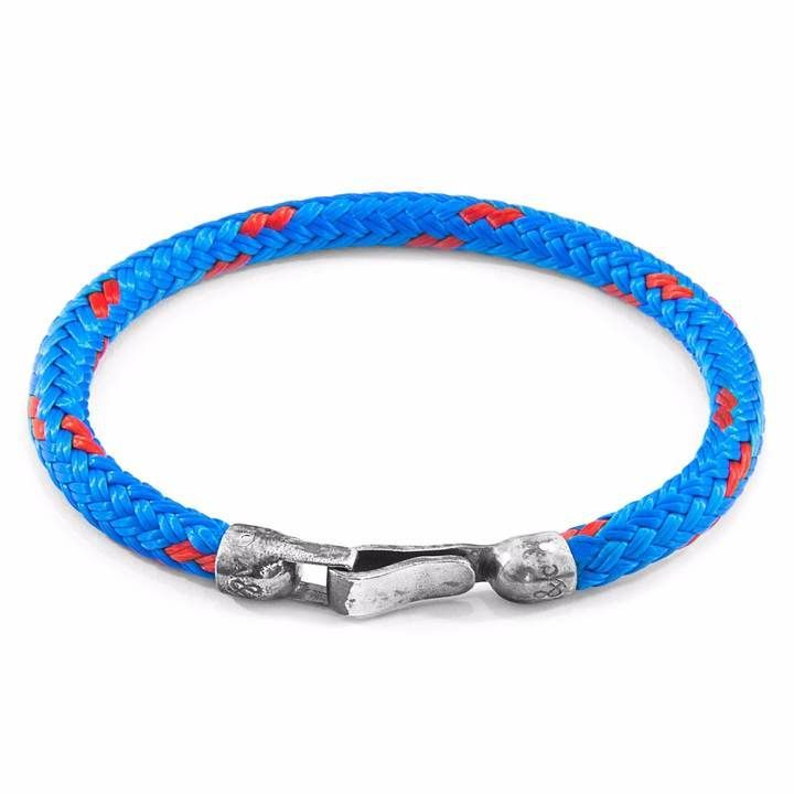Anchor & Crew Blue Paignton Silver and Rope Bracelet aO6M0