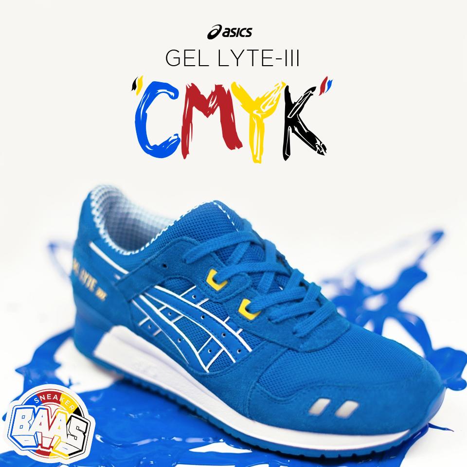 "Asics Gel-Lyte III ""CMYK""   The blue one of the CMYK pack!   www.sneakerbaas.nl   #ASICS #GEL #LYTE #CMYK"