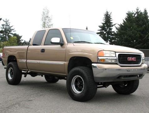 Lifted 4x4 Truck 2001 Gmc Sierra 1500 Sle Z71 8995