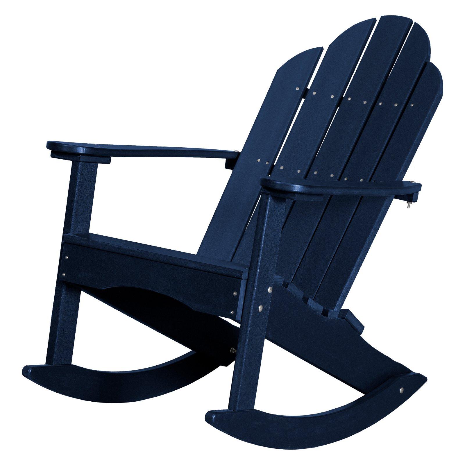 Outdoor Wildridge Classic Plastic Adirondack Rocker Chair