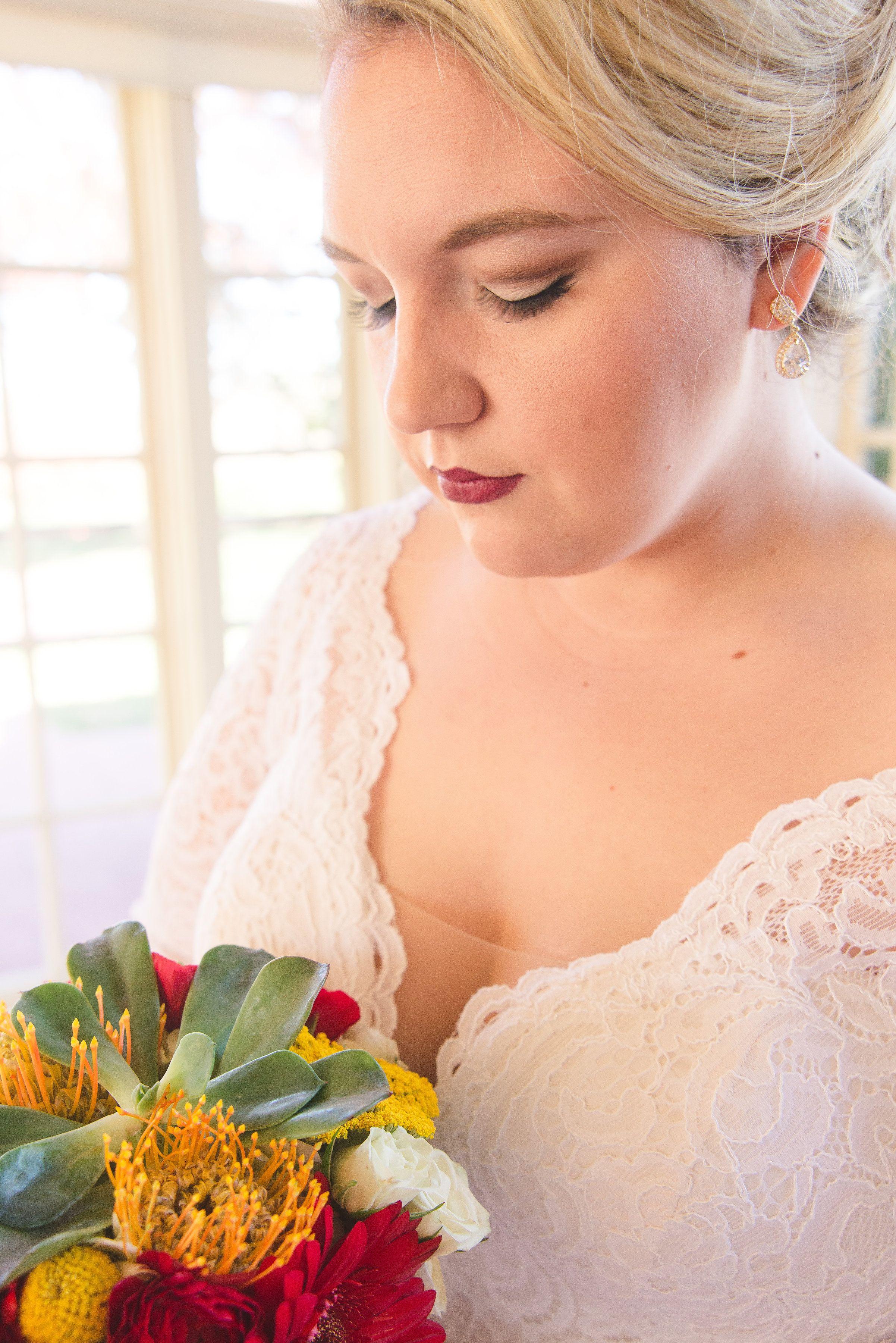 wedding hair & makeup | plus size wedding dress | all my heart