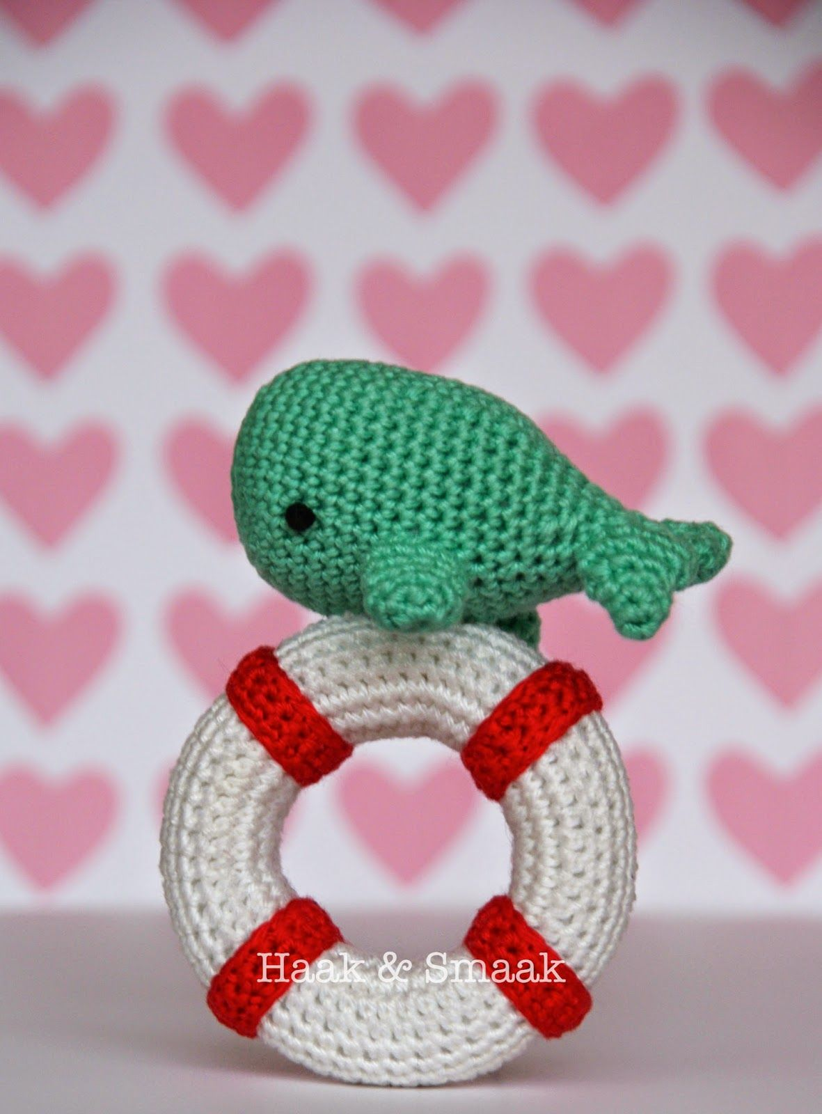 Free crochet pattern for whale rattle | Crafts | Pinterest