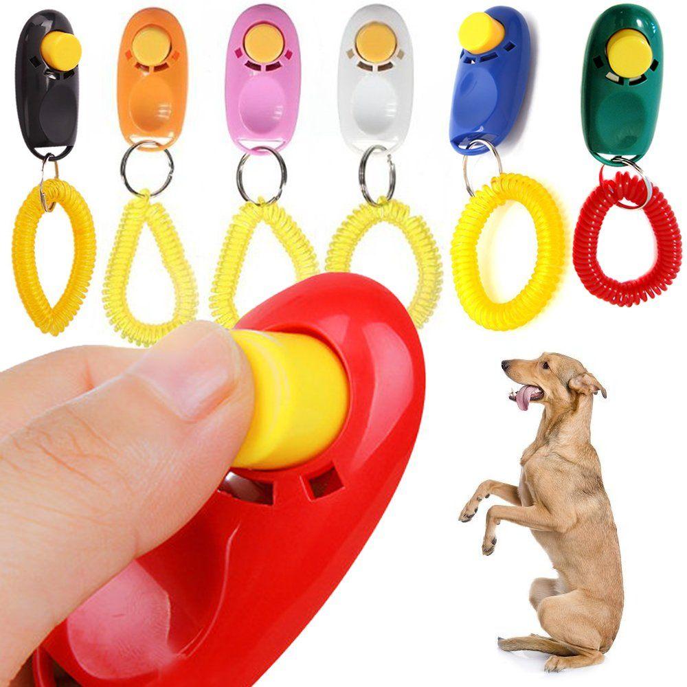 Fuzzygreen Dog Training Big Button Clicker With Wrist Strap Click