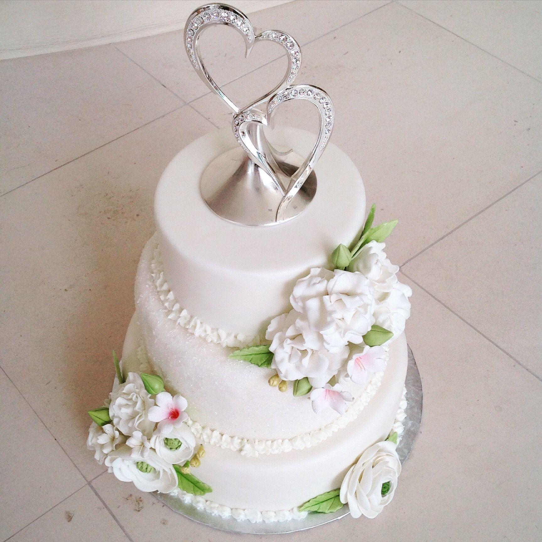 Stunning 3 tier wedding cake with handmade sugar flowers | Suga-Rush ...