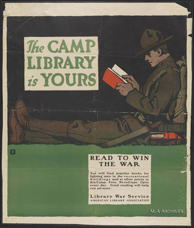 /'Donation for Reading Material for Army and Navy German/' WW1 Propaganda Poster