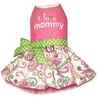 I Love Mommy Paisley Dog Dress