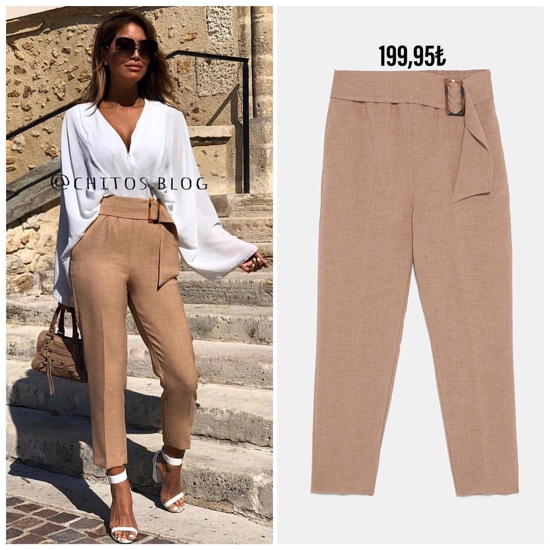 Pin By Chitos Blog On Kadin Kombin Onerileri Pants Zara Khaki Pants