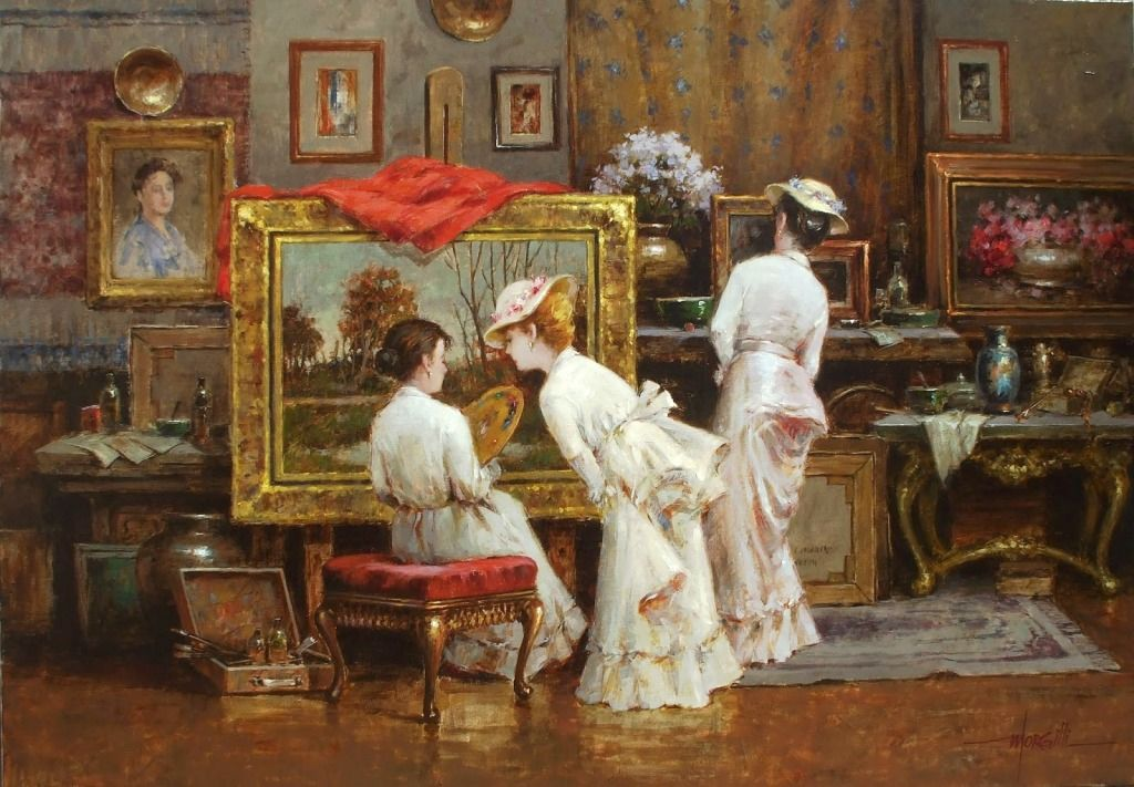 In The Studio Jigsaw Puzzle Puzzle Art Lovers Art Victorian Paintings