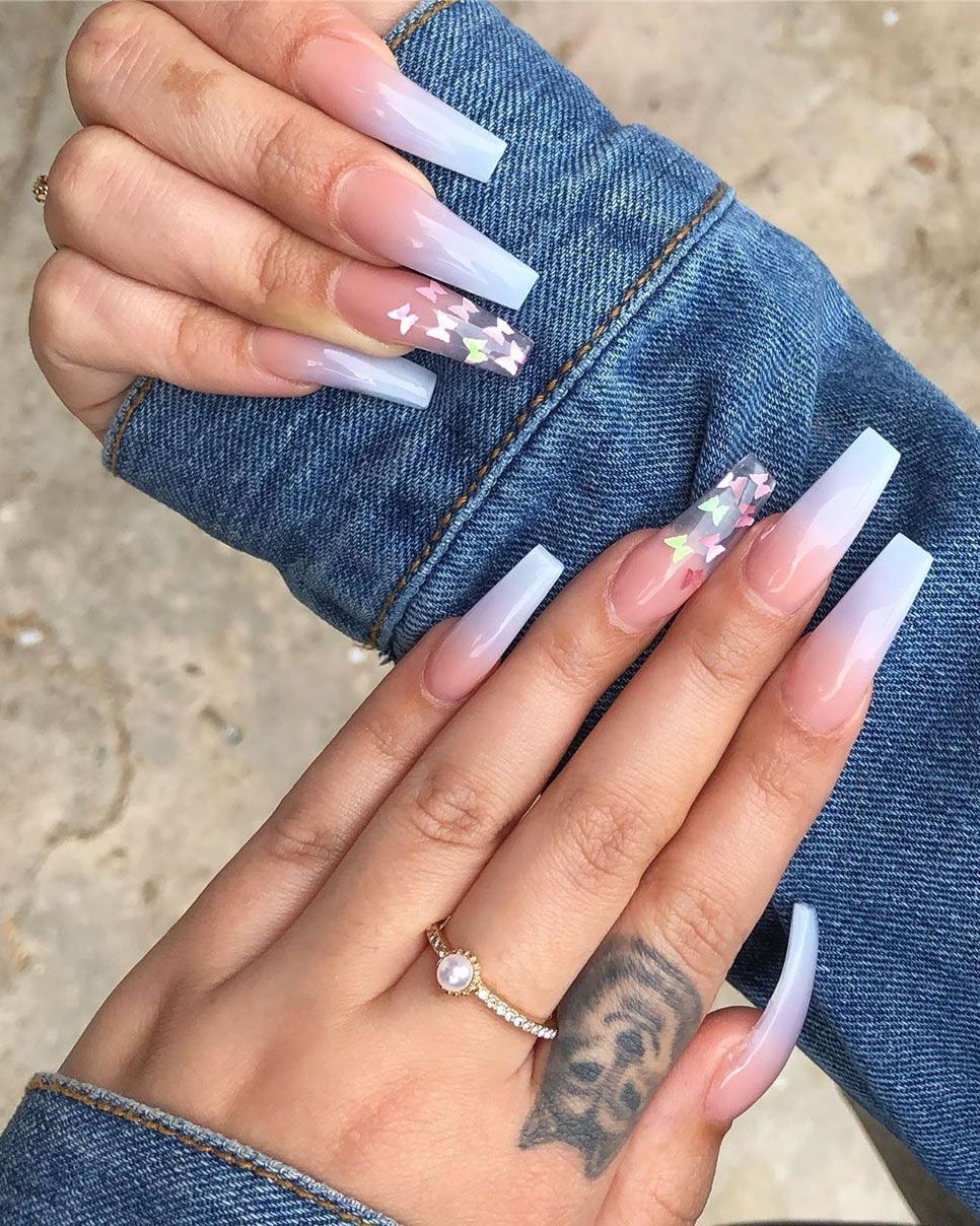 Bester Sommer Ombre Nails 2019 In 2020 Ombre Acrylic Nails Blue Ombre Nails Acrylic Nails
