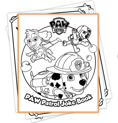 Paw Patrol Free Printable Joke Book Paw Patrol Coloring Paw Patrol Coloring Pages Paw Patrol