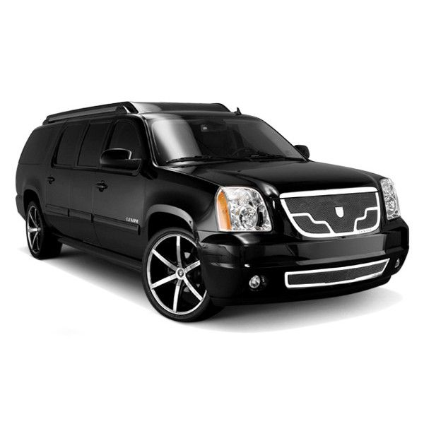Gmc Yukon Denali Black Chrome Venice Mesh Complete Grille Kit For