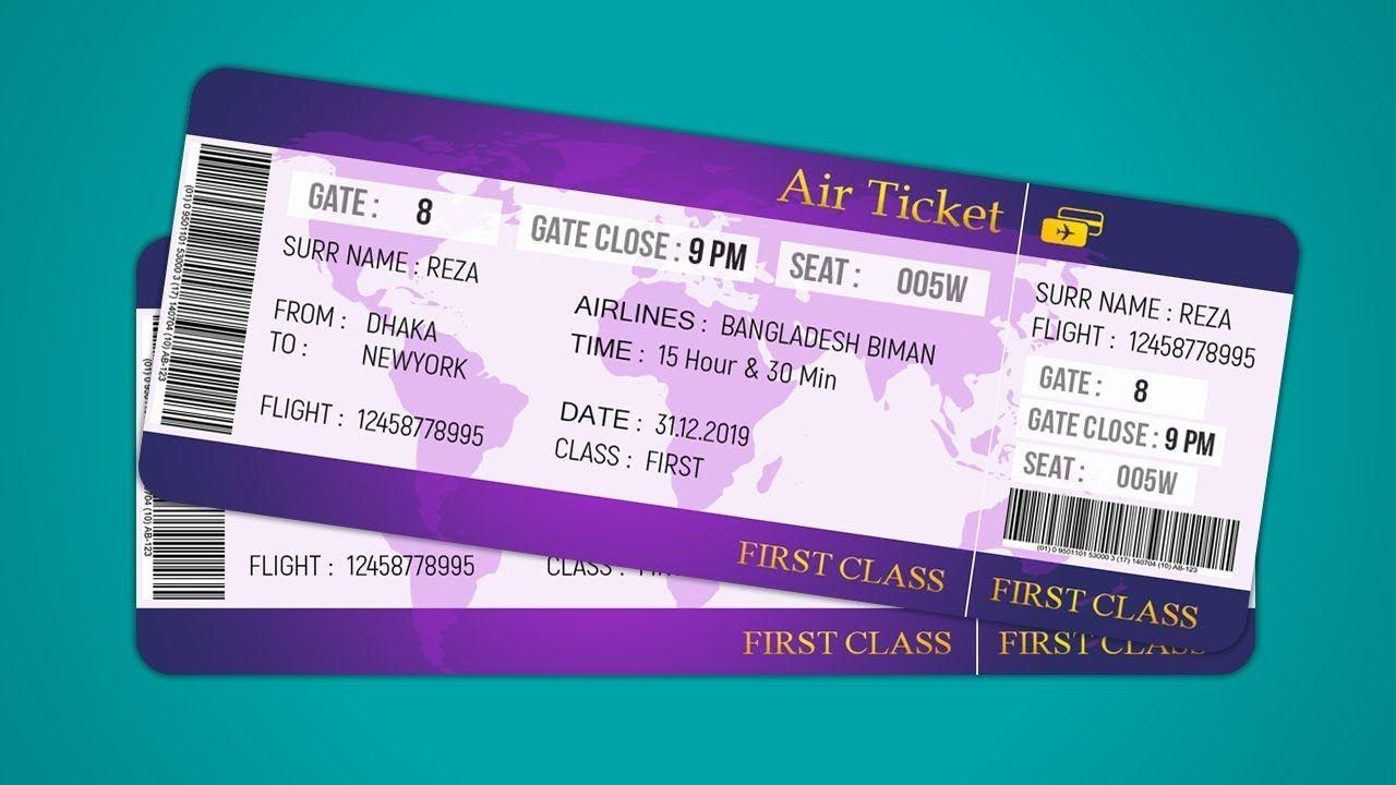 Air Ticket Design How To Design Plane Ticket