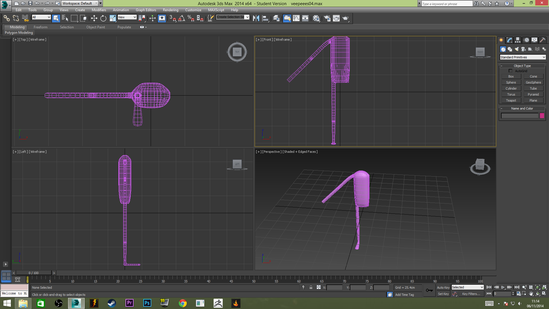 first attempt modelling veepees in 3ds max - 3