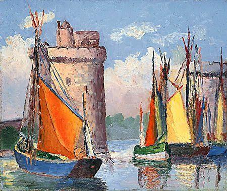 Gaston Balande 1880 1971 Port De La Rochelle Les Arts Art