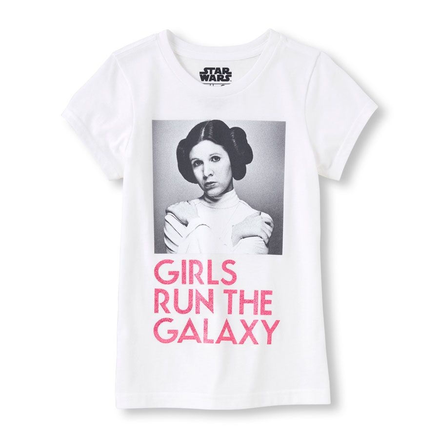 0630a7b51 Girl s Short Sleeve Star Wars  Girls Run The Galaxy  Graphic Tee ...