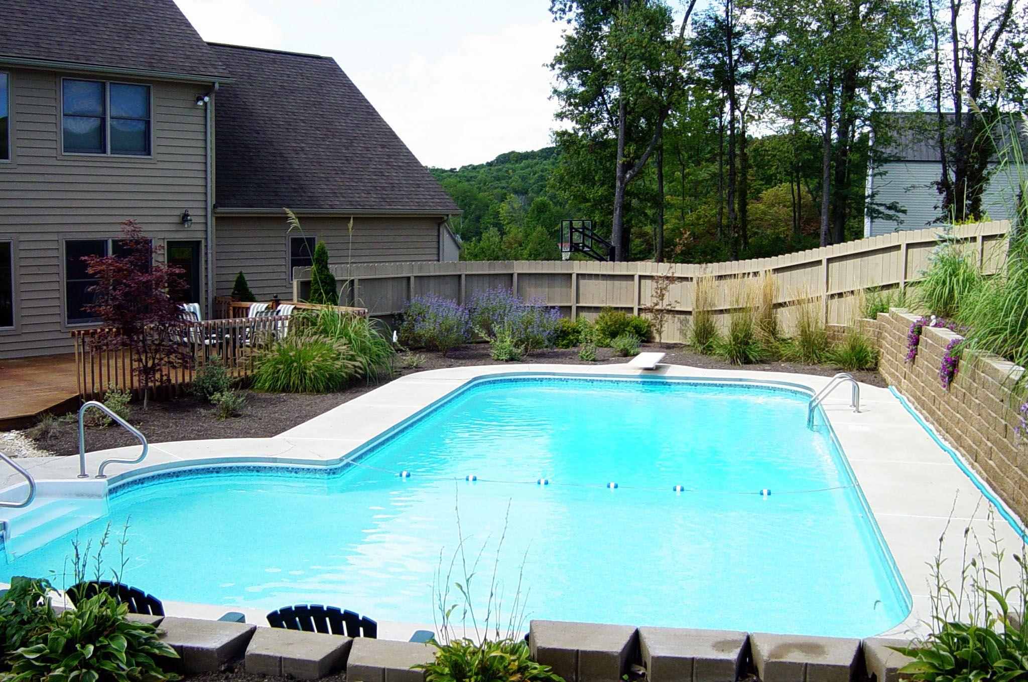 C Amp L Quot L Quot Shape Vinyl Liner Pool Pool Houses Backyard