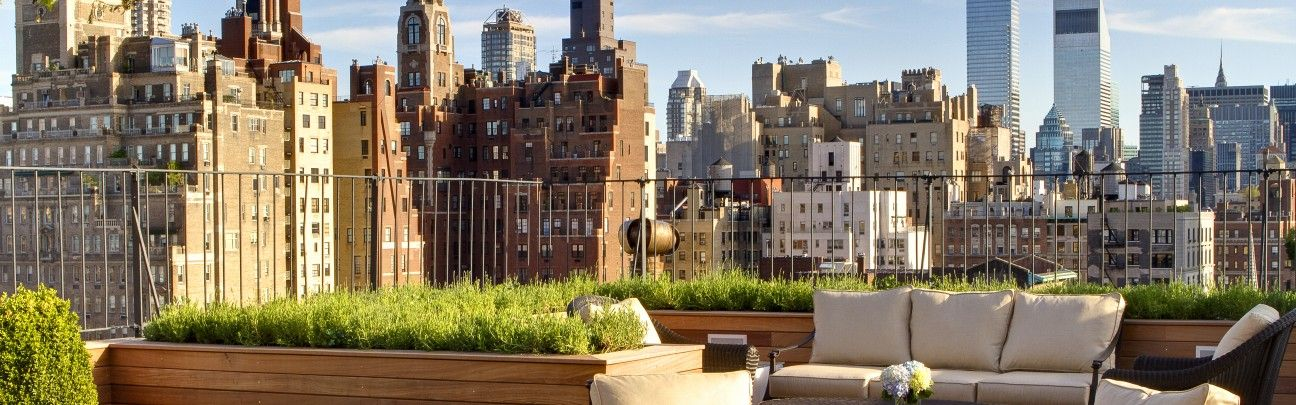 The Surrey New York United States New York Hotels Roof Top Garden Design Roof Garden