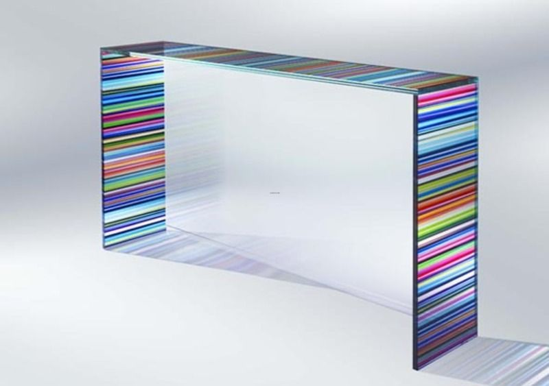 Chroma Collection Modern Glass Console Table Usefull Information