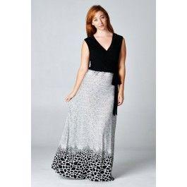 http://www.salediem.com/shop-by-size/xl-2xl-3xl/plus-new-dress.html  Sale Diem  #salediem #blackandwhite #fashion