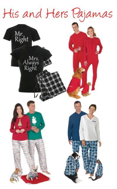 His And Hers Pajamas Looking For A Fun Wedding Anniversary Or Christmas Gift Your Favorite Give Them Matching Pj S You Can Even Order