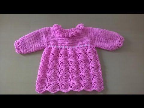 8ec8e3e6c Vestido para bebé: Como hacer vestido para niña en crochet - YouTube ...