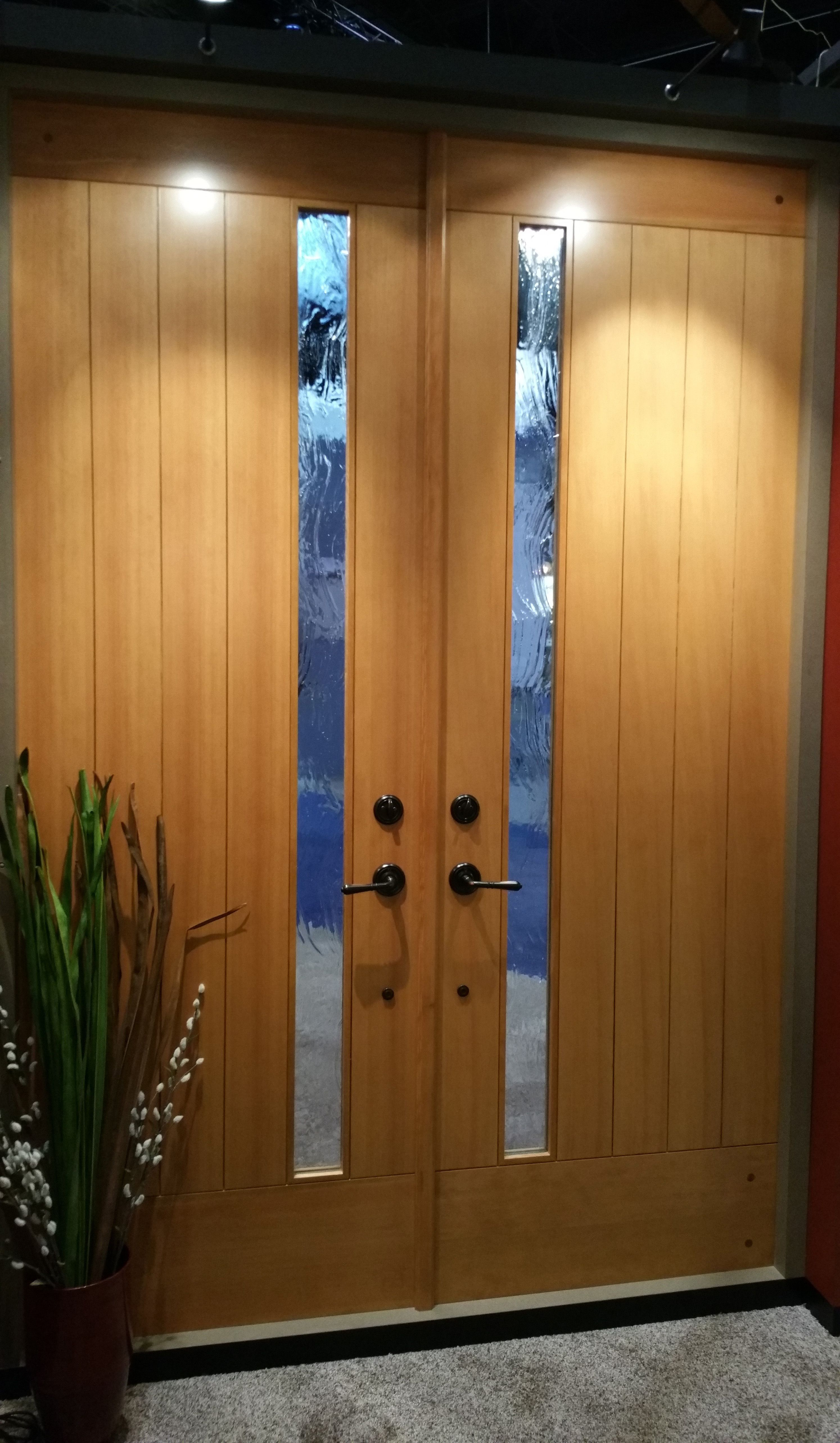4974 4977 With Seedy Baroque Glass In Douglas Fir Modern Front