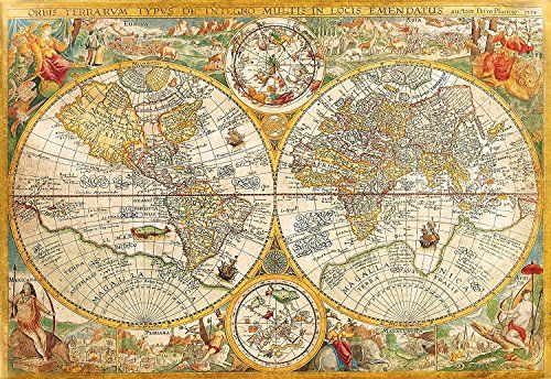 Vintage old world map jigsaw puzzle high quality collect vintage old world map jigsaw puzzle high quality collect gumiabroncs Gallery