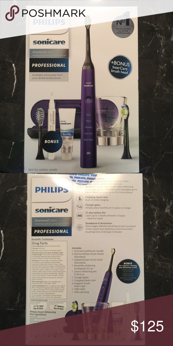 Sonicare toothbrush , Diamondclean in purple!!💜 Includes: 1 toothbrush  handle, 2