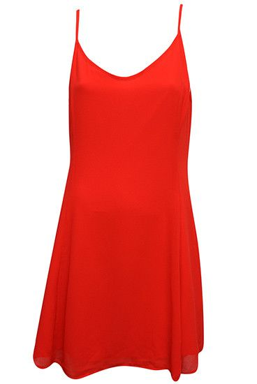 1a19974d38 Less Is More Sleeveless Dress RED – Pitaya