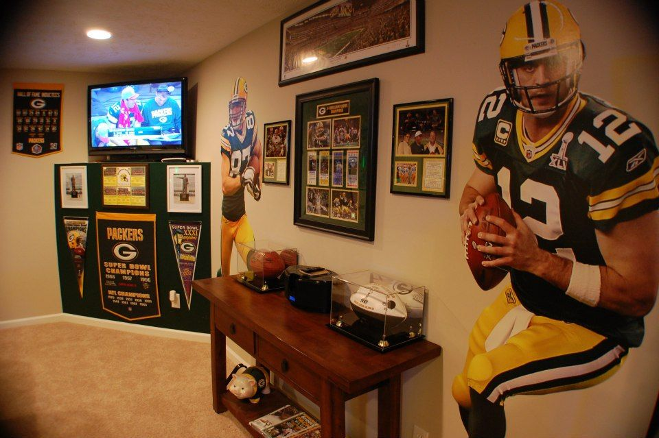 Husker Man Cave Ideas : My packers man cave aka the drew packer heaven