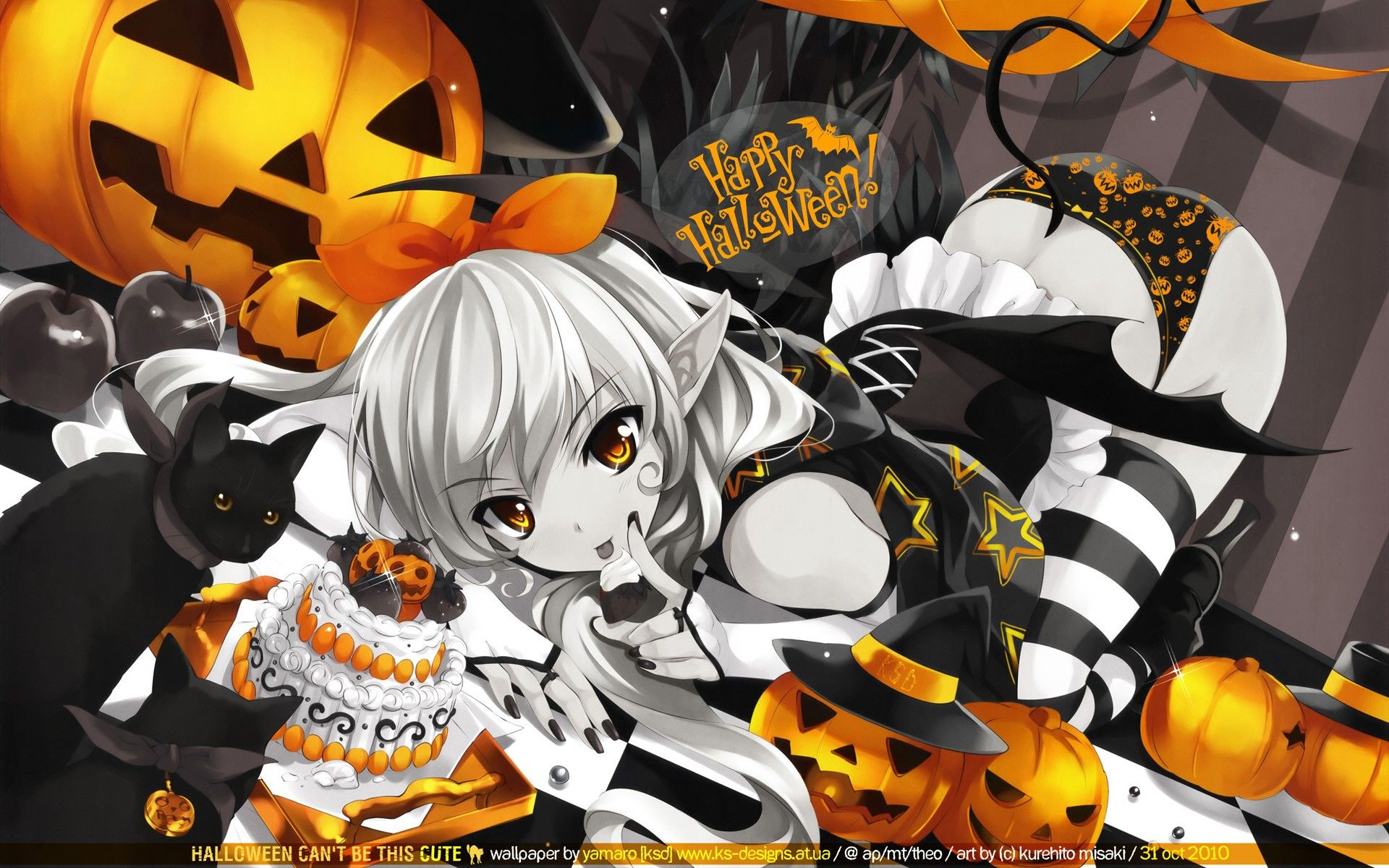 Halloween Anime Anime Girls Wallpaper With Images Anime