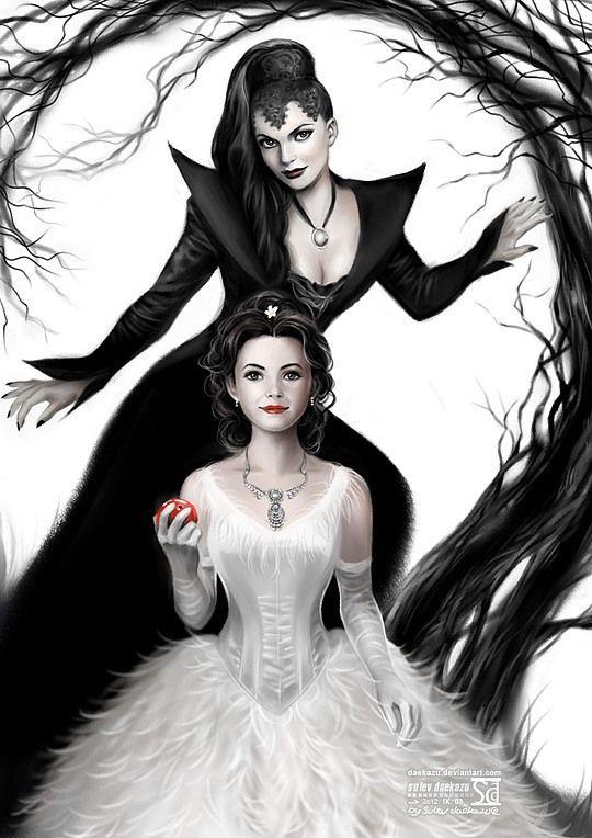 Magnifique dessin de blanche neige et la m chante reine - Blanche neige mechante reine ...