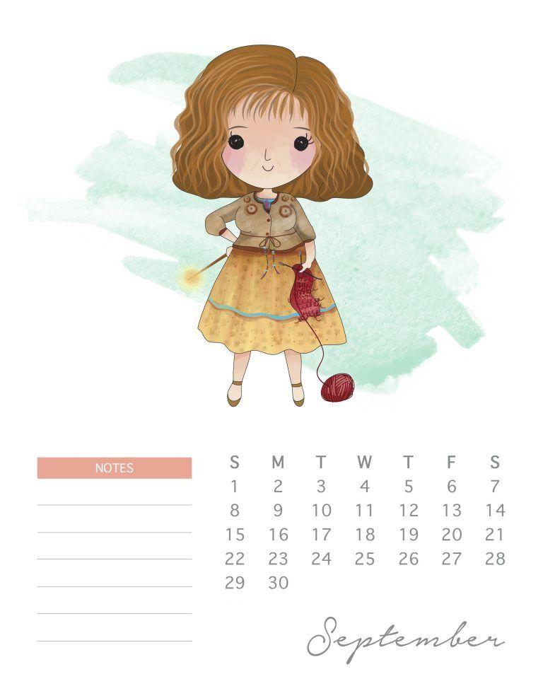 All New Free Printable 2019 Harry Potter Calendar Harry