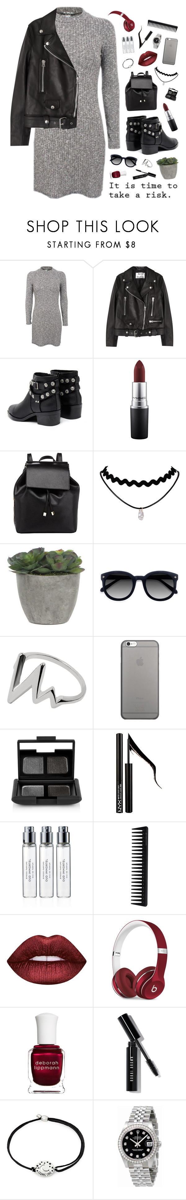 """""""i'm the puzzle you can't figure out"""" by silvanacavero ❤ liked on Polyvore featuring Pilot, Acne Studios, Senso, MAC Cosmetics, Barneys New York, Lux-Art Silks, Ace, Native Union, NARS Cosmetics and Forever 21"""