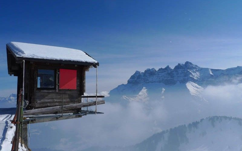 Watch Your Step :: Les Dents du Midi as seen from Champoussin, Switzerland.