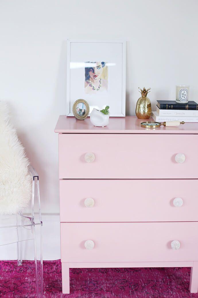 A Pretty Pink DIY Dresser IKEA Hack
