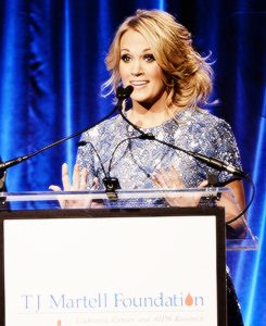 Carrie Underwood at the T.J. Martell Foundation Gala. (Oct. 22, 2013)