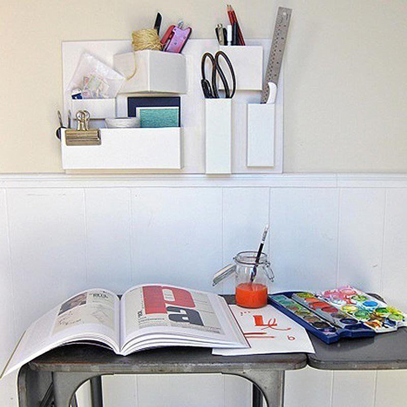 13 DIY pour fabriquer un organiseur mural de bureau   Organisateur en carton, Carton diy et ...