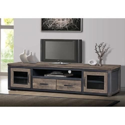 80 Inch Wood Rustic Tv Stand Storage Entertainment Center Console Vintage Look