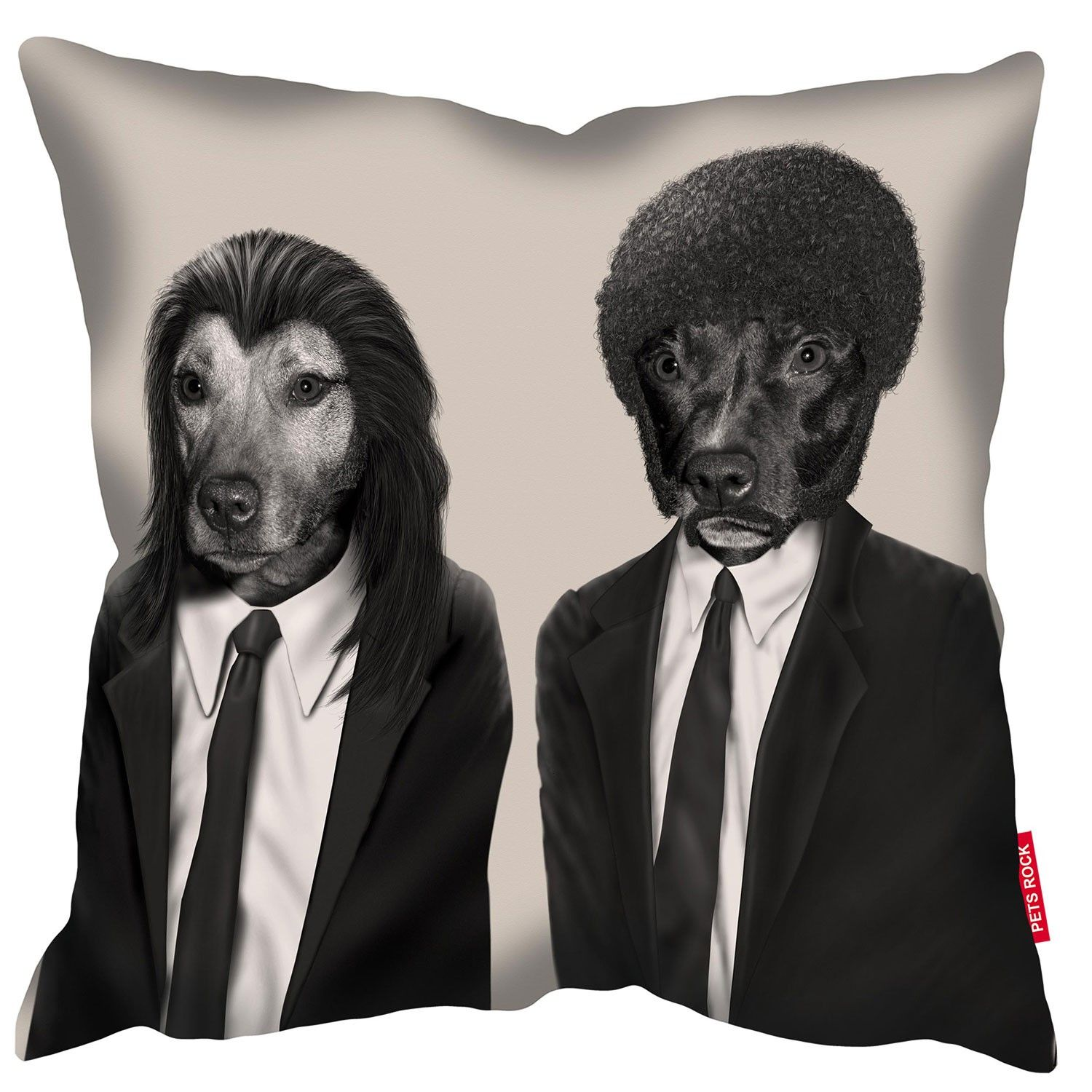 Hit Dogs MonoPets Rock Cushions Fun Funky Pillows