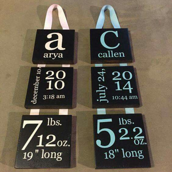 Personalized Signs For Baby Room