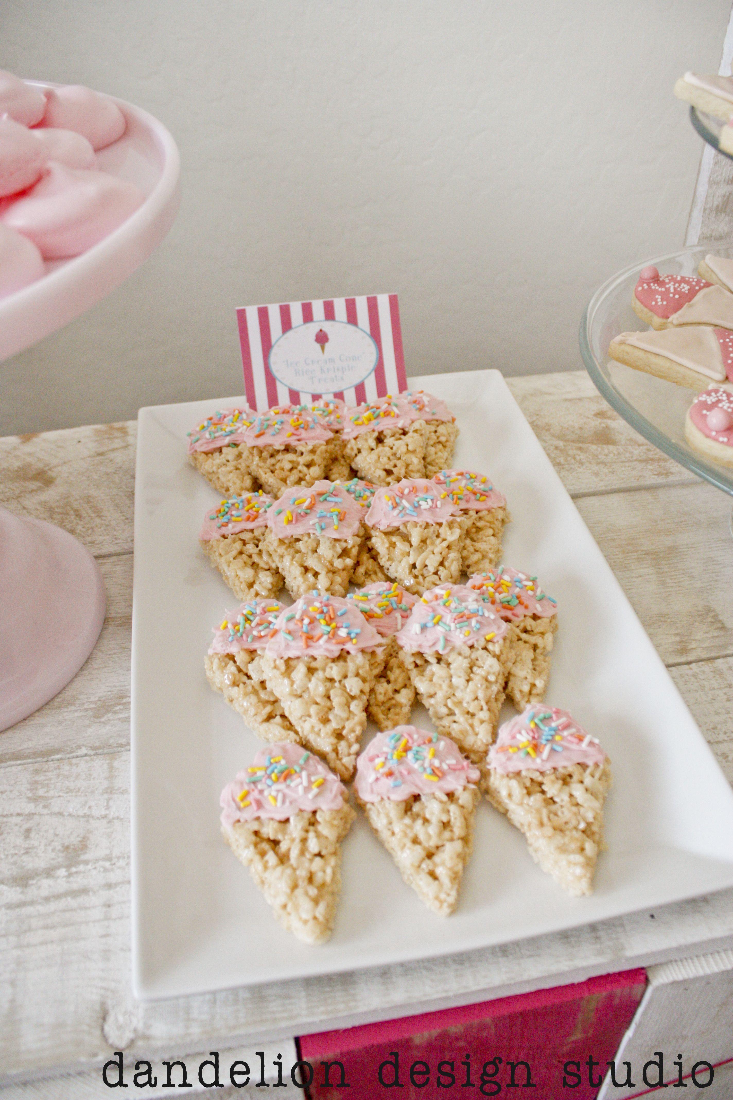 Ice Cream Shoppe: Ice Cream Cone Rice Krispie Treats ...