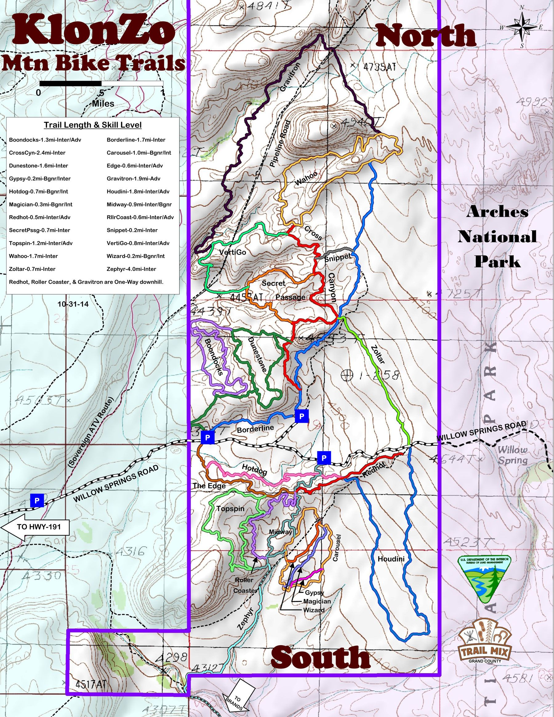 Moab Trail Maps for Hiking, Biking and 4x4 | GuestGuides | Mountain ...