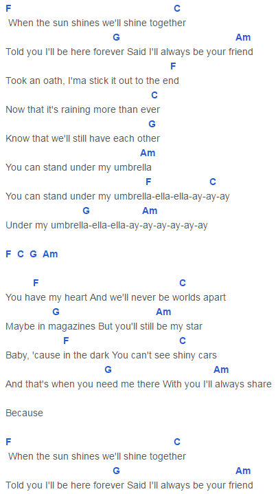 Umbrella Chords Taylor Swift Taylor Swift In 2018 Pinterest