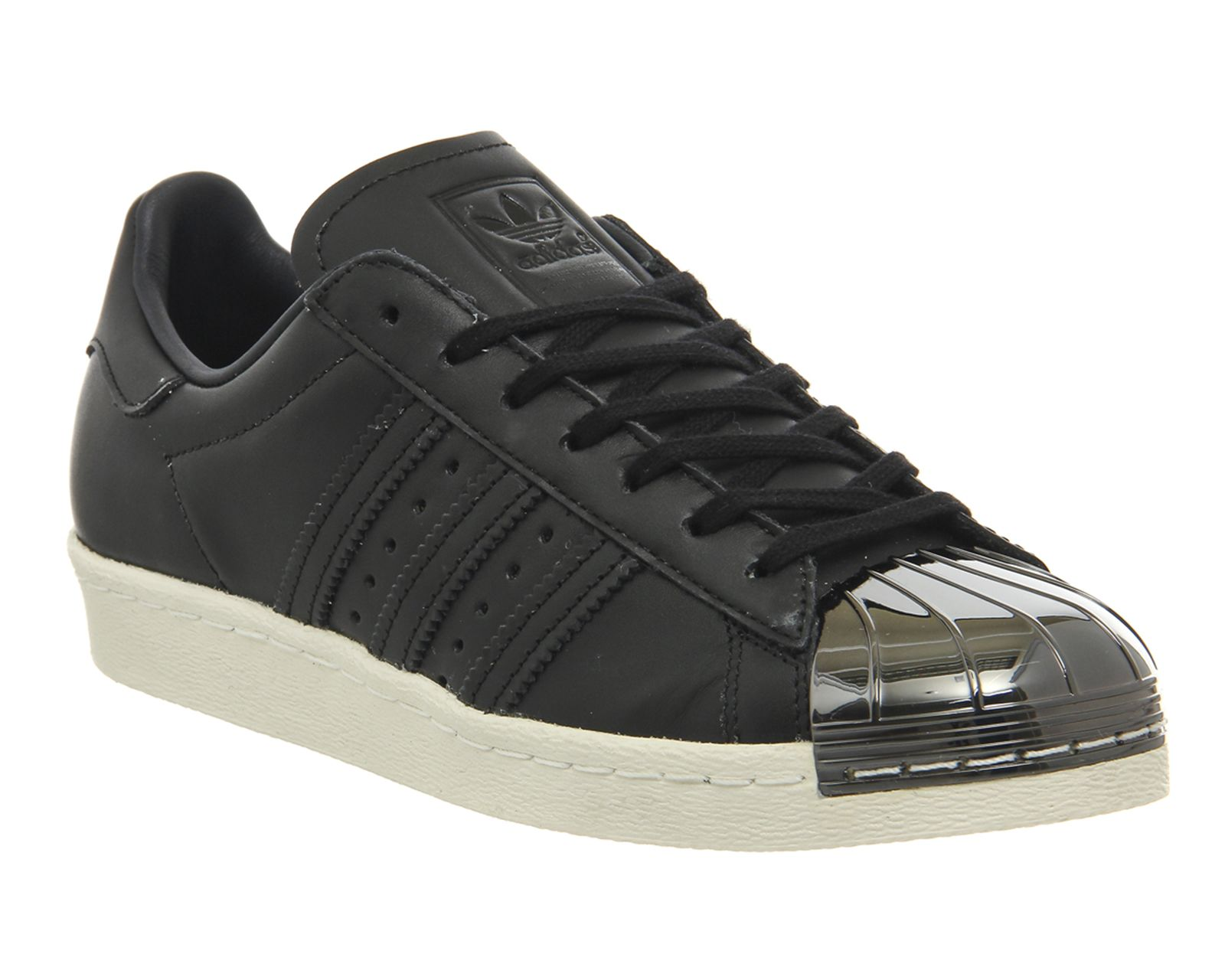 Adidas Superstar 80's Metal Toe Trainers Black White Pewter Metal Toe -  Exclusives