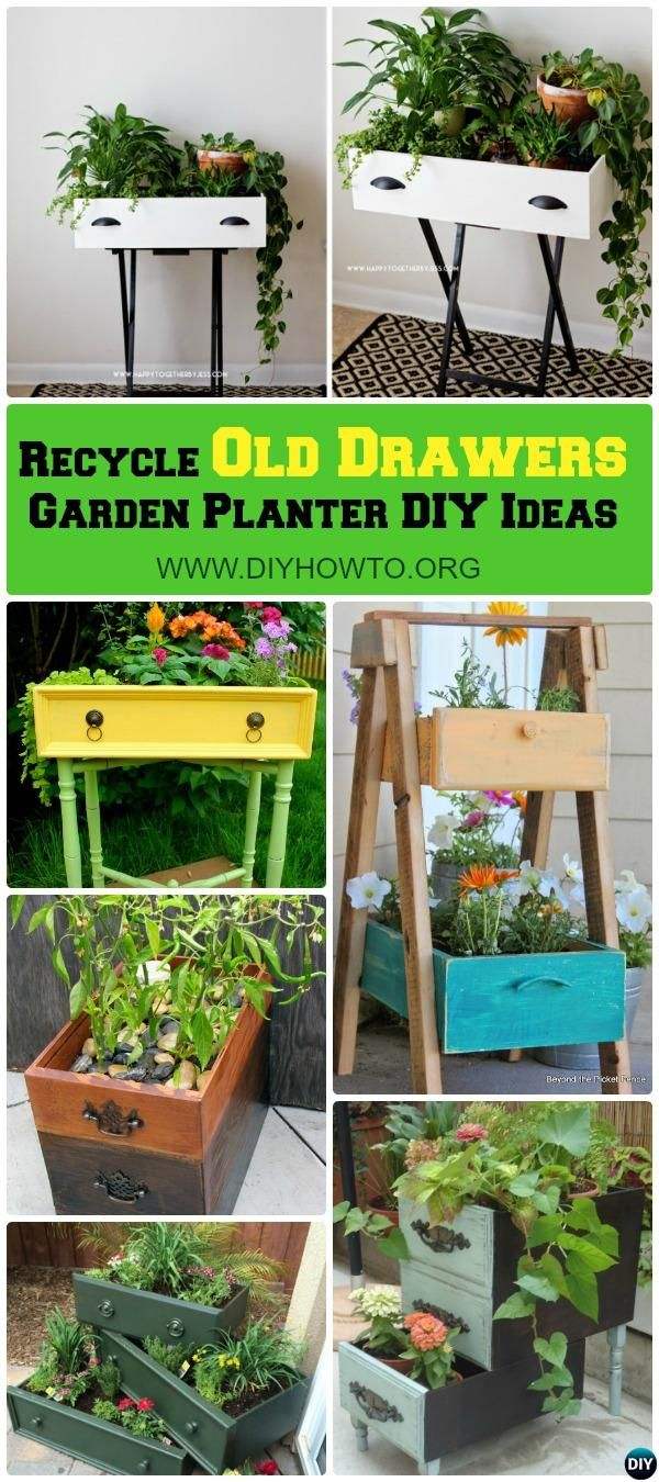 Best Recycle Old Drawers Garden Planter DIY Ideas Projects #gartenrecycling
